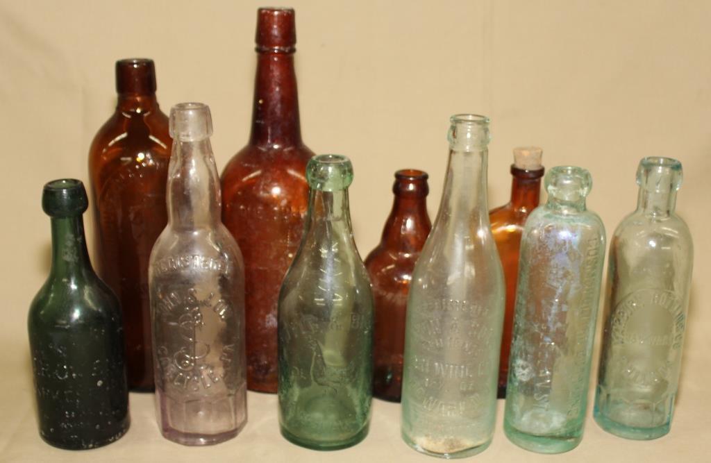 4 Amber, 2 Green, 4 Clear bottles