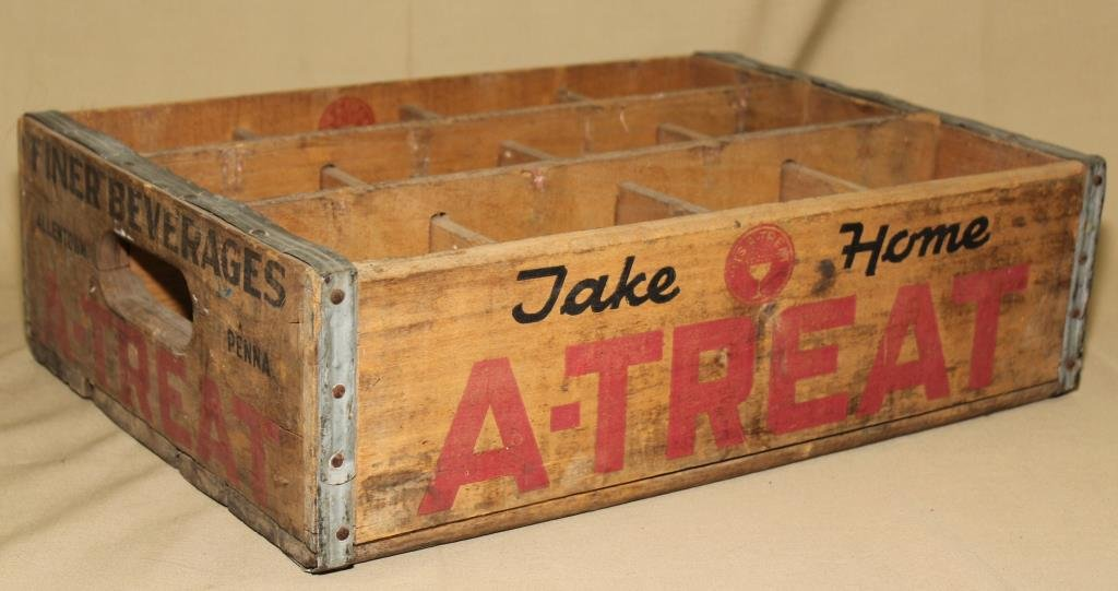 Wooden A-Treat soda case