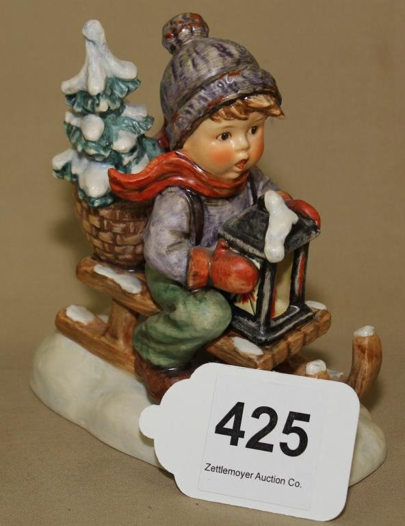 "Ride Into Christmas - Hummel Figurine, 6""h"
