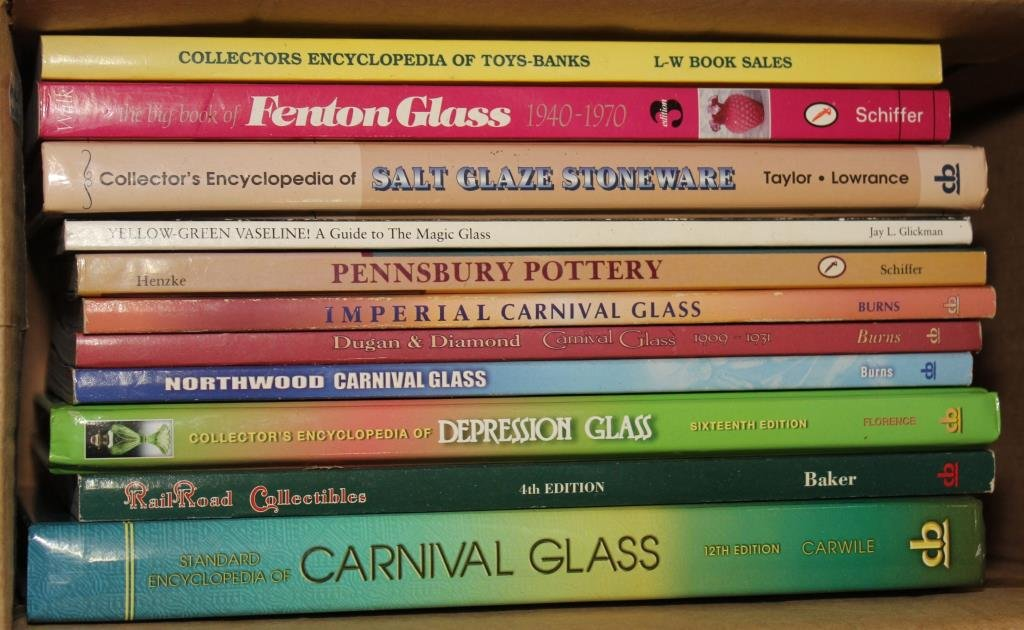 11 Antique Reference books; Toys-Banks,