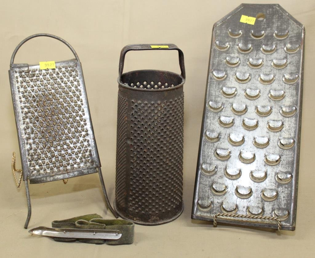 3 graters and corn husking peg