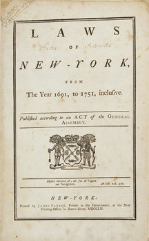 5A: 1752 New York laws