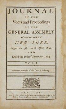 6A: 1764-66 New York laws. Gaine imprint.