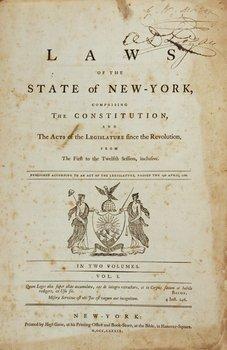 7A: 1789 New York laws. Gaine imprint.