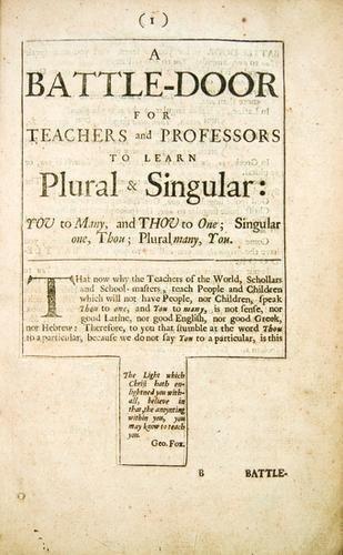1B: FOX, George (1624-1691); STUBS, John (?1618-1674);