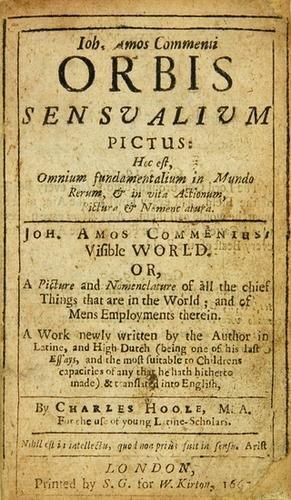2B: COMENIUS, Johann Amos (1592-1670).  Orbis Sensuali