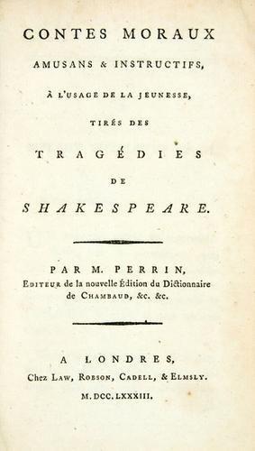 12B: SHAKESPEARE, William (1564-1616) - PERRIN, Jean Ba