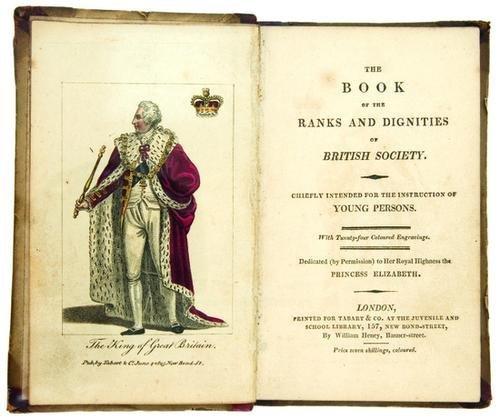 19B: [LAMB, Charles (1775-1834)].  The Book of Ranks an
