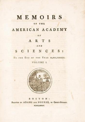 3A: Memoirs of the Academy of Arts and Sciences. 1785.