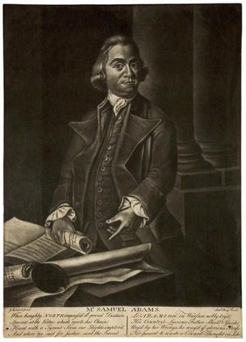 4A: Mezzotint portrait of Samuel Adams