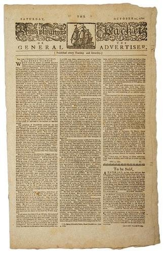 5A: 1780 NEWSPAPER RE: BENEDICT ARNOLD