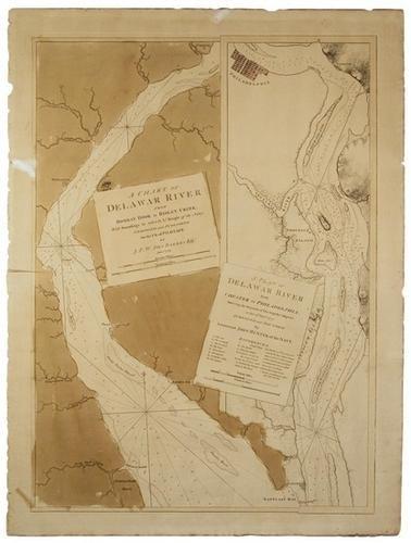 192A: DES BARRES. A Chart of the Delaware.  1779.