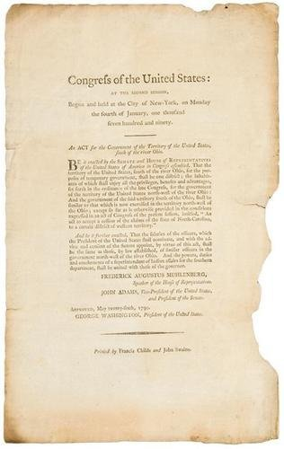 289A: BROADSIDE ACT OF THE FIRST CONGRESS