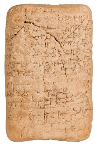 1B: BABYLON, CUNEIFORM, Cartography.  Clay Tablet with