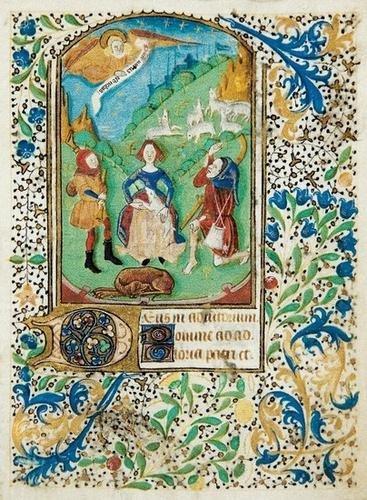 6B: ILLUMINATED MANUSCRIPT LEAF, France, 15th century.