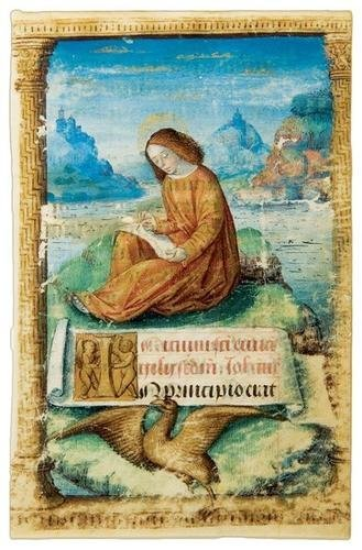 10B: ILLUMINATED MANUSCRIPT LEAF, France, c. 1480. - At