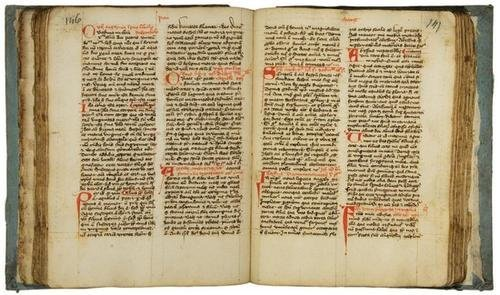 13B: Decorated manuscript on paper, 15th century.   A L