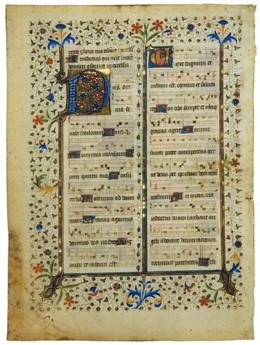 17B: ILLUMINATED  MANUSCRIPT LEAVES (3). France, 15th c
