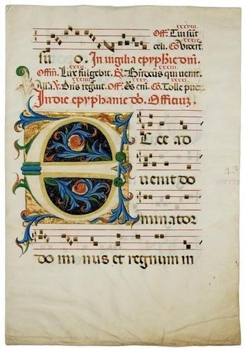 18B: Illuminated manuscript leaf. [Northern Italy, ca.