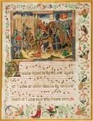 20B ILLUMINATED MANUSCRIPT LEAF ON VELLUM by the SPAN