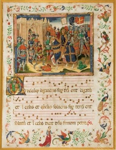 20B: ILLUMINATED MANUSCRIPT LEAF ON VELLUM, by the SPAN