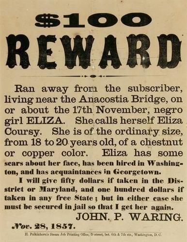 15C: Fugitive Slave Broadside 1857