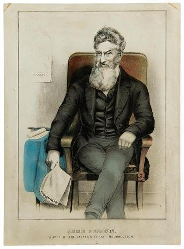 16C: Currier & Ives colored litho of John Brown