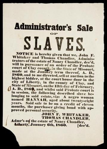 17C: Slave Sale Broadside