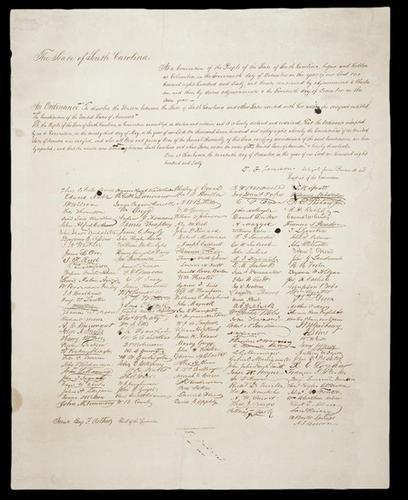 21C: South Carolina's Act of Secession