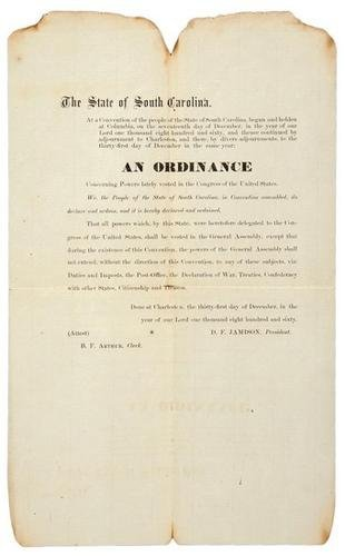23C: Ordinance of the SC Secession Convention