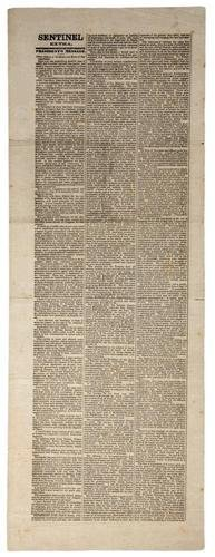 100C: Confederate extra printing of Lincoln's annual me