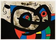 90A Joan Miro le lzard aux plumes dor