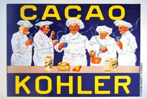 3A: Cacao Kohler, chocolate, poster