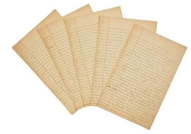 262A: STEINBECK, John. An autograph manuscript, an inco