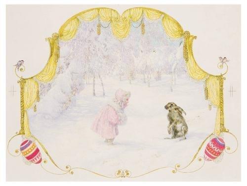 58B: LEFLER Heinrich Watercolor Austrian JUGENDSTIL