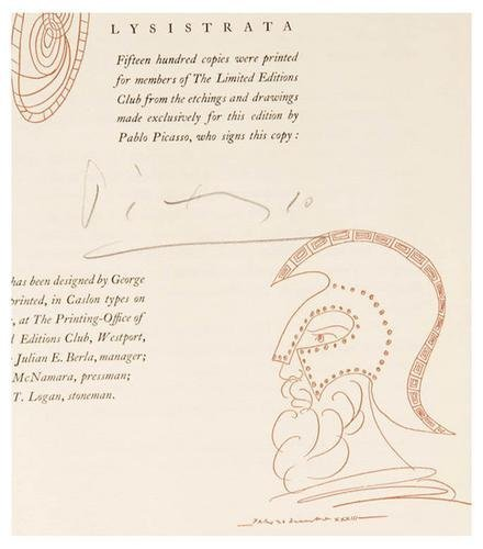 269B: PICASSO; SELDES. Lysistrata by Aristophanes. Limi