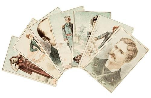 2A: Frank BAUM. Oz. 7 Trade Cards - Maid of Arran