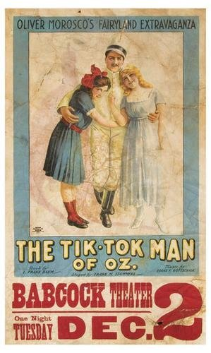 91A: Frank BAUM The Tik-Tok Man of Oz RARE POSTER