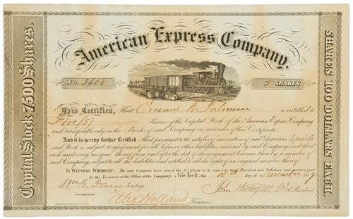 510A: AMERICAN EXPRESS - BUTTERFIELD, John and William