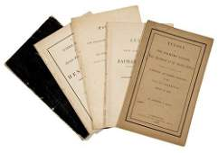 678A: PRESIDENTS - Obituary Addresses. Group of five fu