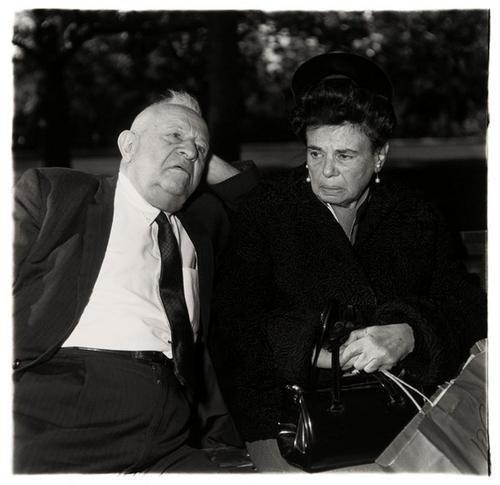 7B: DIANE ARBUS (1923-1971); Elderly Couple on a Park