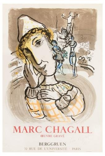17B: Marc Chagall the circus with the yellow clown