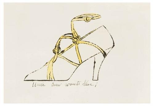 411B: Andy Warhol uncle sam wants shoe