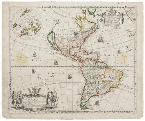 11D: LEA, Philip. A New Mapp of America Devided Accordi