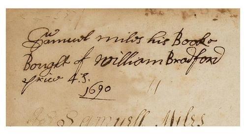 16D: PENN, William - William BRADFORD binding? An Addre