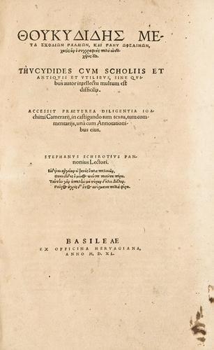 9E: HERODOTUS. Libri Novem. Basel, 1557.
