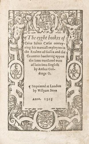12E: CAESAR, De Bello Gallico, in English]. London: 156