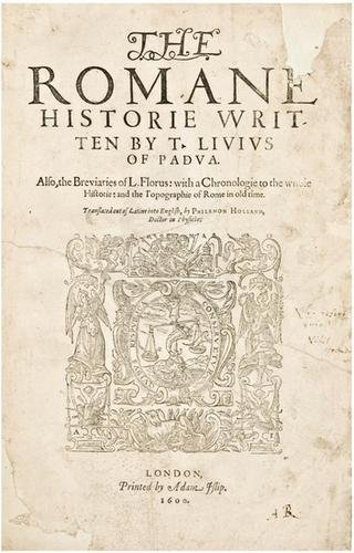 19E: LIVY. The Romane Historie. 1600. first edition in