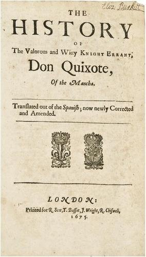 24E: CERVANTES. Don Quixote. London, 1675, The third ed