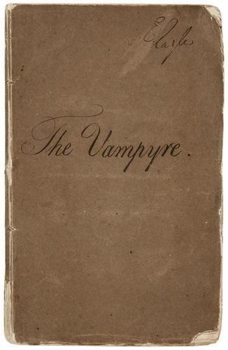 148E: POLIDORI. The Vampyre; A Tale. first edition